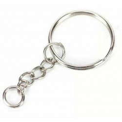 Ring with chain for keychain